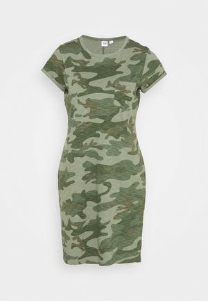 TEE DRESS - Vestito di maglina - green