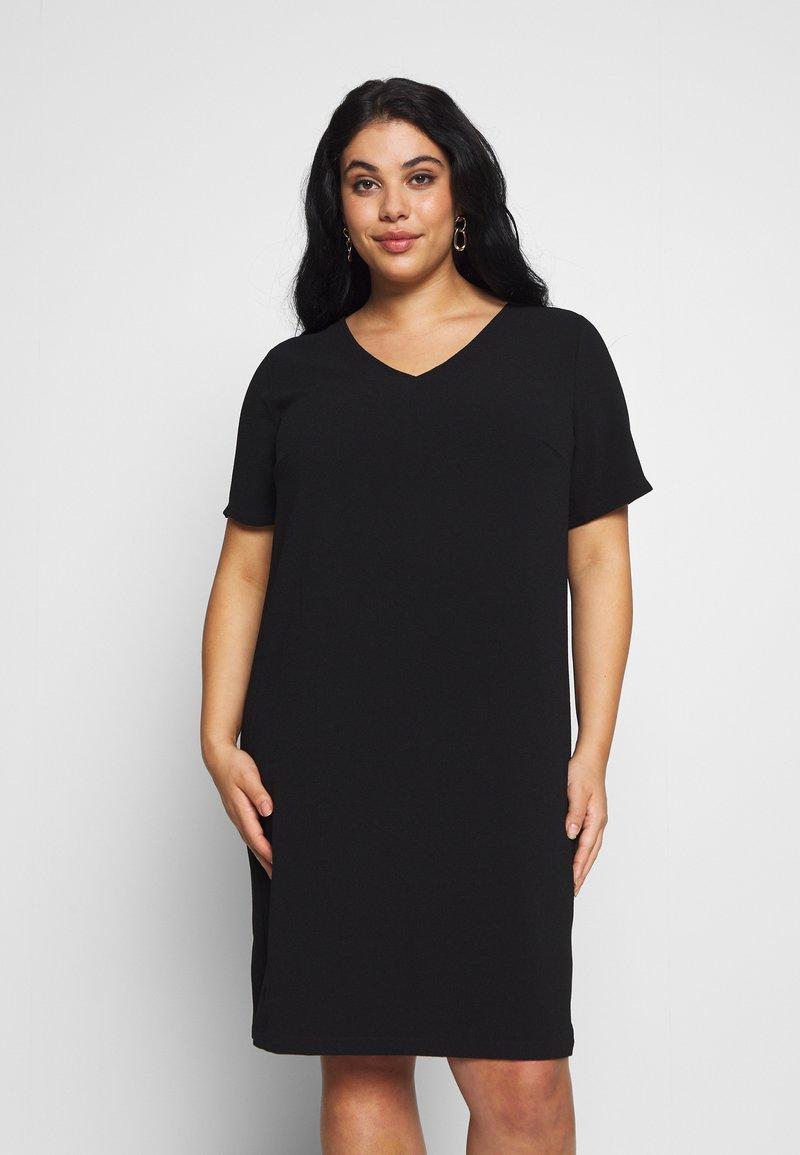 ONLY Carmakoma - CARMANILO V-NECK  - Jersey dress - black