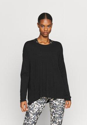 EASY PEAZY - Long sleeved top - black
