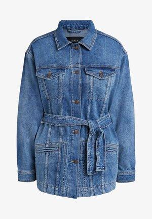 MIT GÜRTEL - Denim jacket - blue denim
