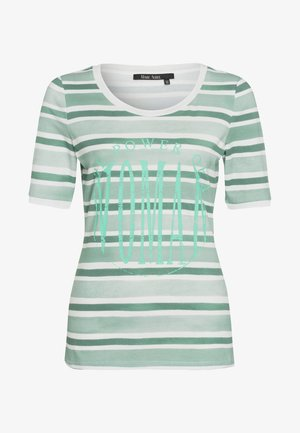 Print T-shirt - jade varied