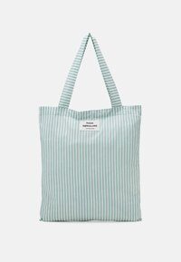 SACKY ATOMA - Bolso shopping - white alyssum/aqua