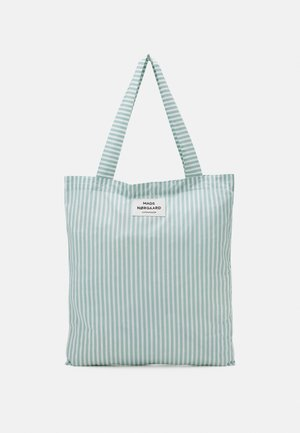 SACKY ATOMA - Shopping bags - white alyssum/aqua