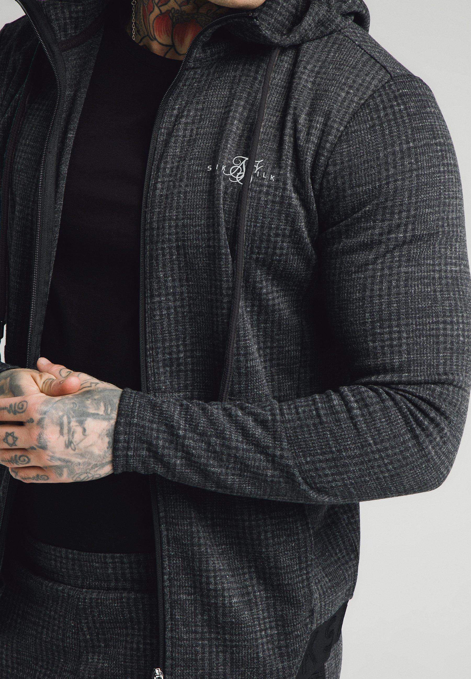 Men TONAL CHECK AGILITY ZIP THROUGH HOODIE - Summer jacket