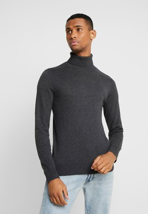 JJEEMIL ROLL NECK - Stickad tröja - dark grey melange
