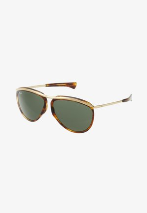 Sonnenbrille - brown/green