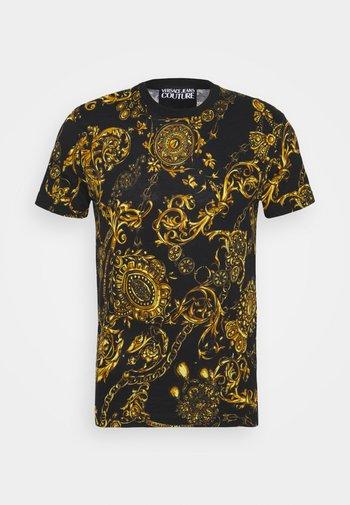 REGALIA BAROQUE - Camiseta estampada - nero/oro