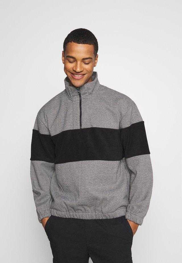HERRINGBONE BLOCKED  - Sweatshirt - grey