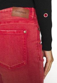 Desigual - PANT DELFOS - Slim fit jeans - red - 4