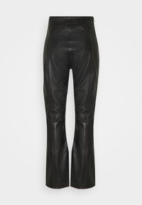 HOSBJERG - TAILOR PANT - Leather trousers - black - 1