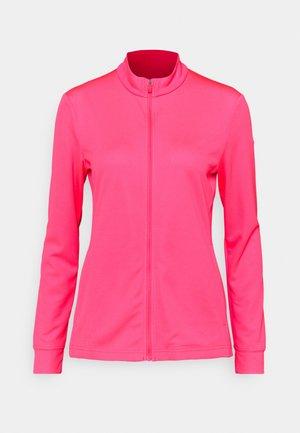 Mikina na zip - hyper pink