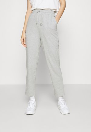 TAPERED LEG SLIM FIT JOGGER - Træningsbukser - mottled light grey