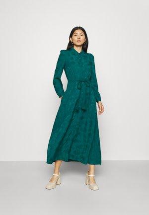 EDWINA TIE FRONT SHIRT DRESS - Day dress - malachite green