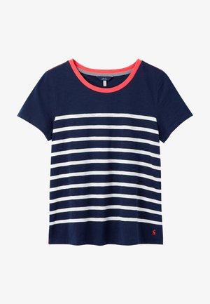 Print T-shirt - französisch marineblau cremefarbene streifen