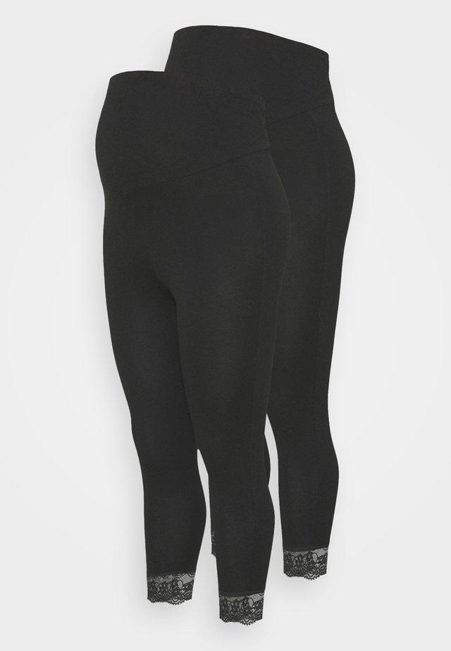 MLELIANA 2 PACK  - Leggings - Trousers - black