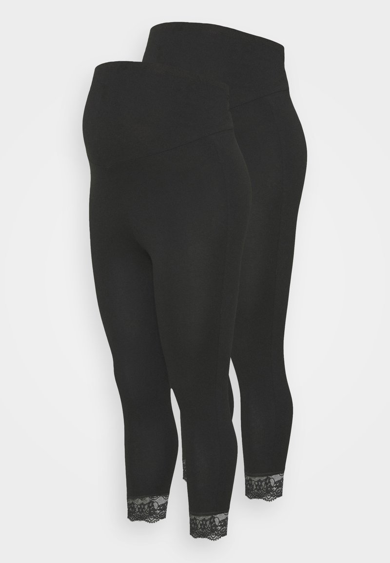 Mamalicious Curve - MLELIANA 2 PACK  - Leggings - black
