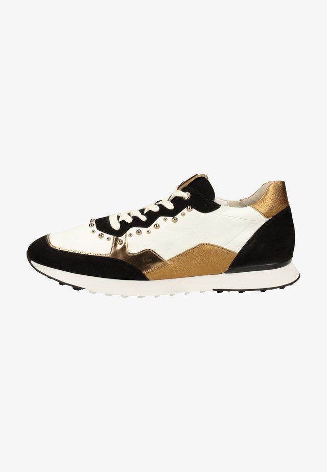 Sneakers laag - schwarz weiss 0102