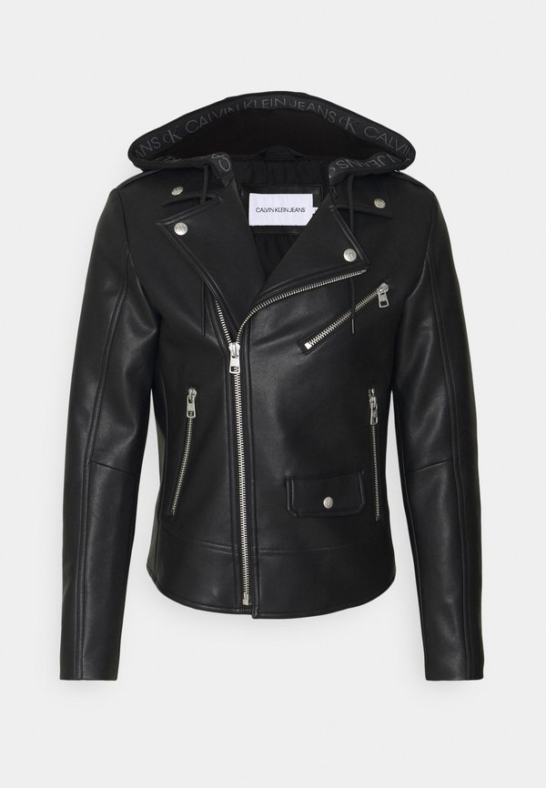 Calvin Klein Jeans JACKET - Kurtka ze skÓry ekologicznej - black/czarny Odzież Męska VTCV