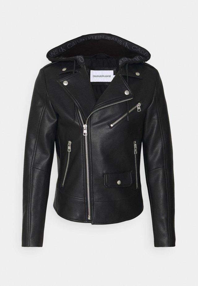JACKET - Faux leather jacket - black