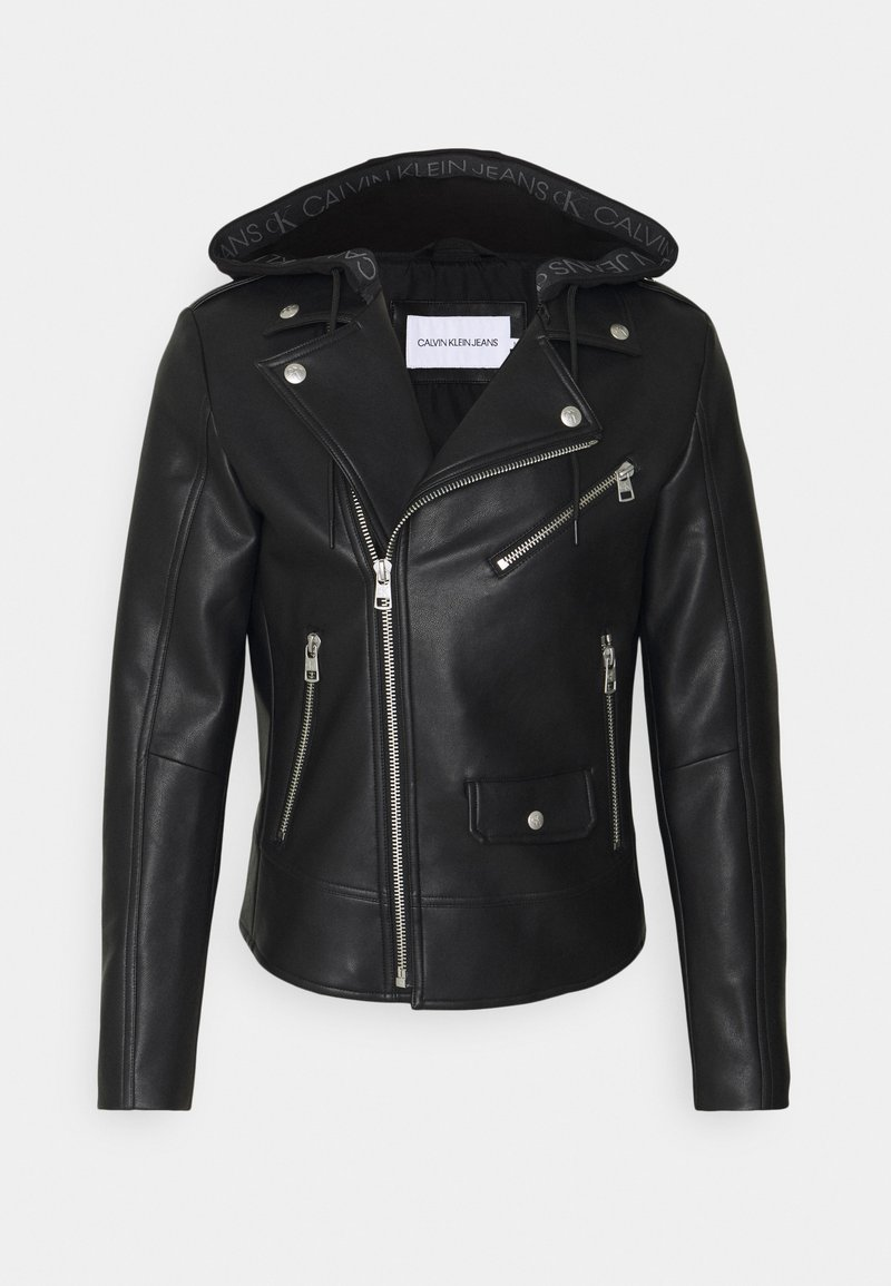 Calvin Klein Jeans - JACKET - Faux leather jacket - black