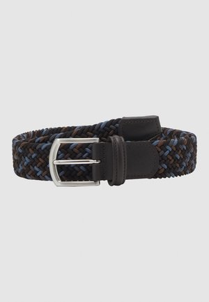 STRECH BELT UNISEX - Braided belt - blue/brown