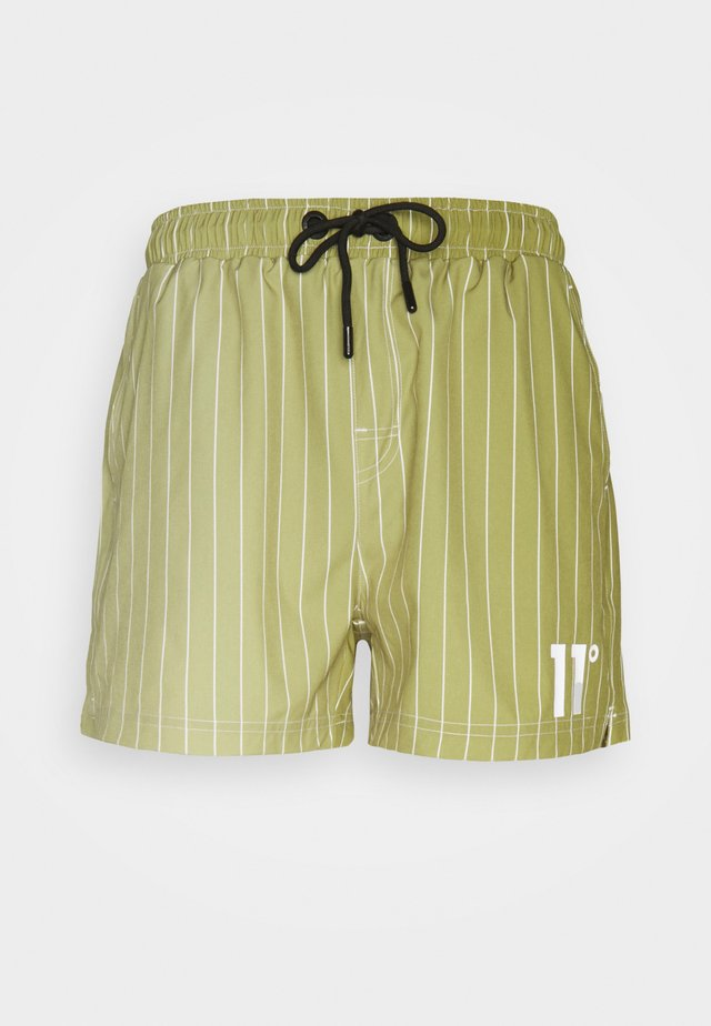 ALL OVER PRINT SWIM SHORTS - Shorts - seed beige/khaki fade