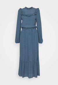 CHECK GINGHAM FRILL DRESS - Day dress - blue