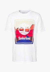 Timberland - KENNEBEC RIVER HORIZON GRAPHIC TEE - T-shirt med print - white - 4