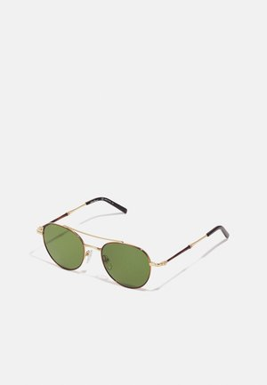 UNISEX - Sunglasses - shiny gold/olive green