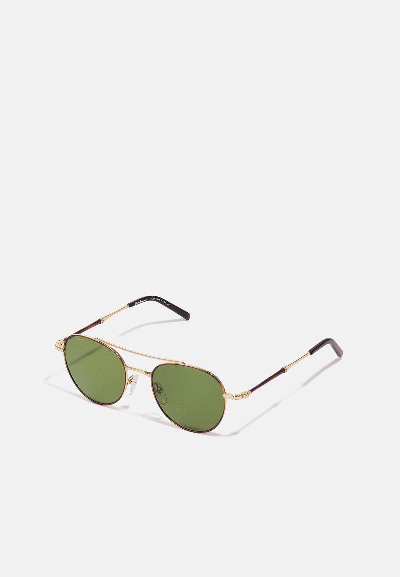 Salvatore Ferragamo - UNISEX - Sunglasses - shiny gold/olive green