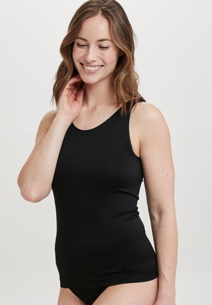 WITH WIDE STRAPS - Hemd - black