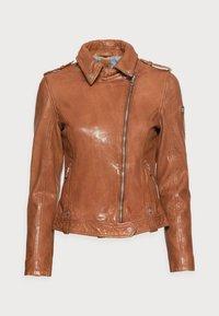Gipsy - Leather jacket - cognac - 4