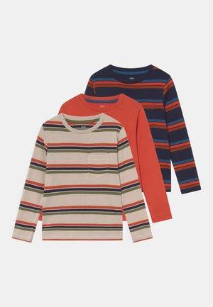 3 PACK - Maglietta a manica lunga - dark blue/metallic red