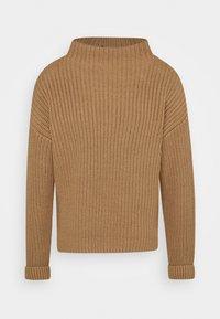 Selected Femme Tall - SLFSELMA NECK  - Sweter - beige - 0