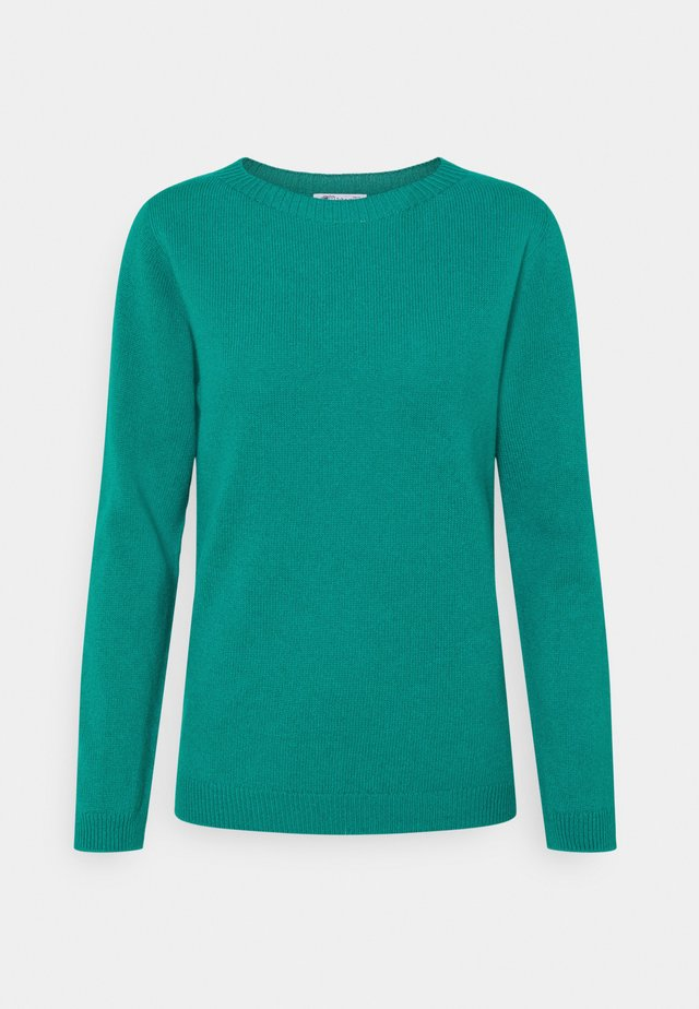 GAUZY CREW NECK - Jumper - green