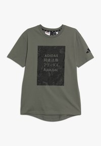 adidas Performance - TEE - Print T-shirt - legend green/black - 0