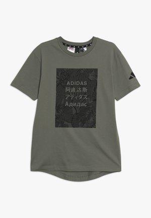 TEE - Print T-shirt - legend green/black