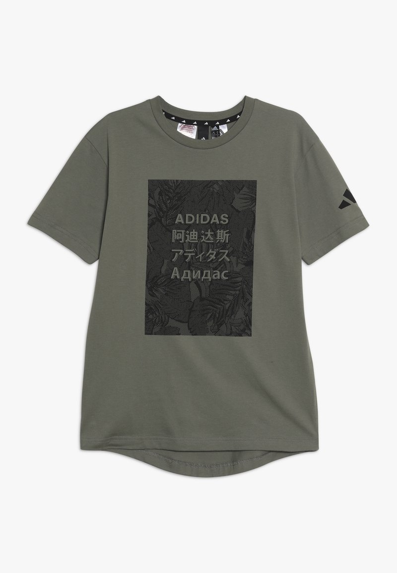 adidas Performance - TEE - Print T-shirt - legend green/black