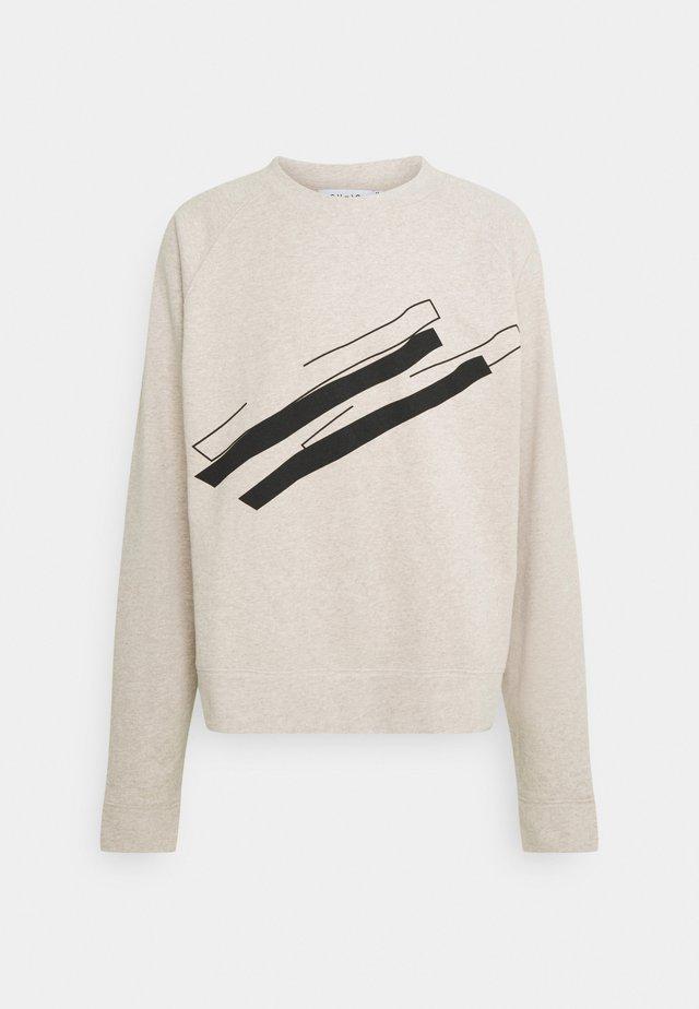 LINE  CREW NECK - Sweatshirt - beige