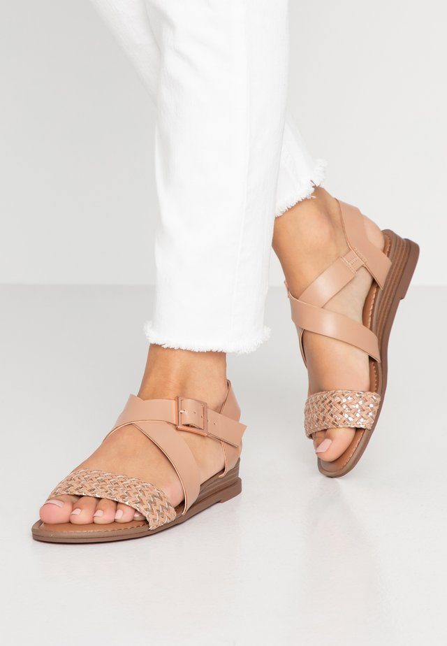 CIARA - Wedge sandals - blush