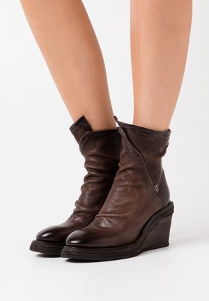 Wedge Ankle Boots - fondente
