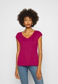 Anna Field - T-shirts - berry - 0