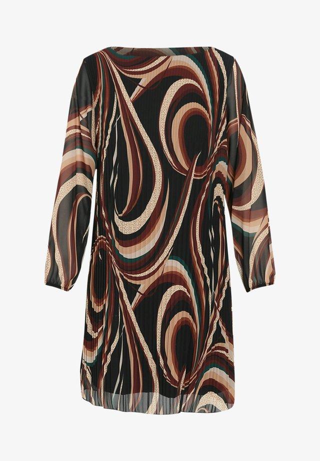 MIT GEOMETRISCHEM AUFDRUCK - Korte jurk - brown