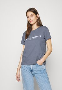 Abercrombie & Fitch - PARIS LOGO TEE  - Print T-shirt - blue - 0