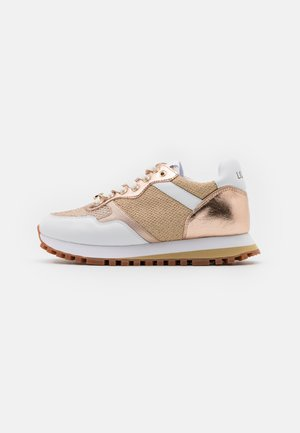Joggesko - white/gold
