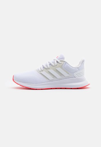RUNFALCON - Neutral running shoes - footwear white/signal pink