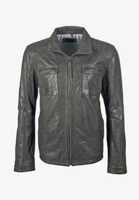 deercraft - LEDERJACKE DAWN NSLV - Veste en cuir - dark grey - 5