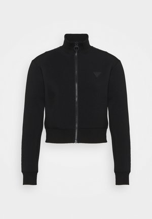 FULL ZIP - Zip-up hoodie - jet black