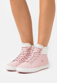 Lacoste - STRAIGHTSET - Baskets montantes - pink/offwhite - 0
