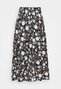 Marks & Spencer London - FLORAL SKIRT - A-line skirt - dark blue - 1